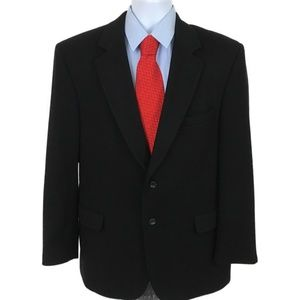 JoS A Bank Mens 100% Cashmere Black Blazer 43R